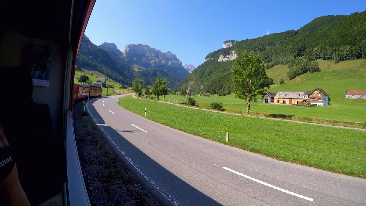 Appenzellerbahn window view