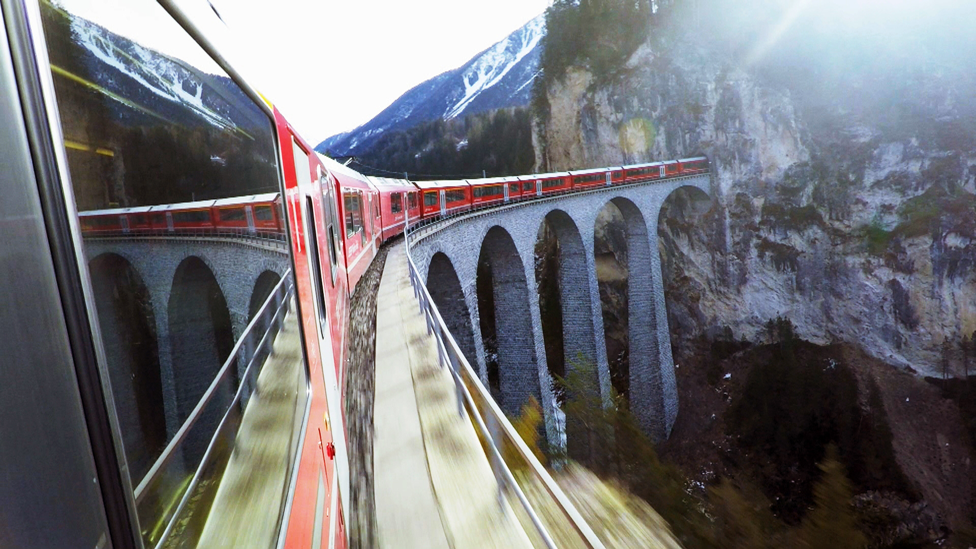 Bernina on Landwasser Viaduct