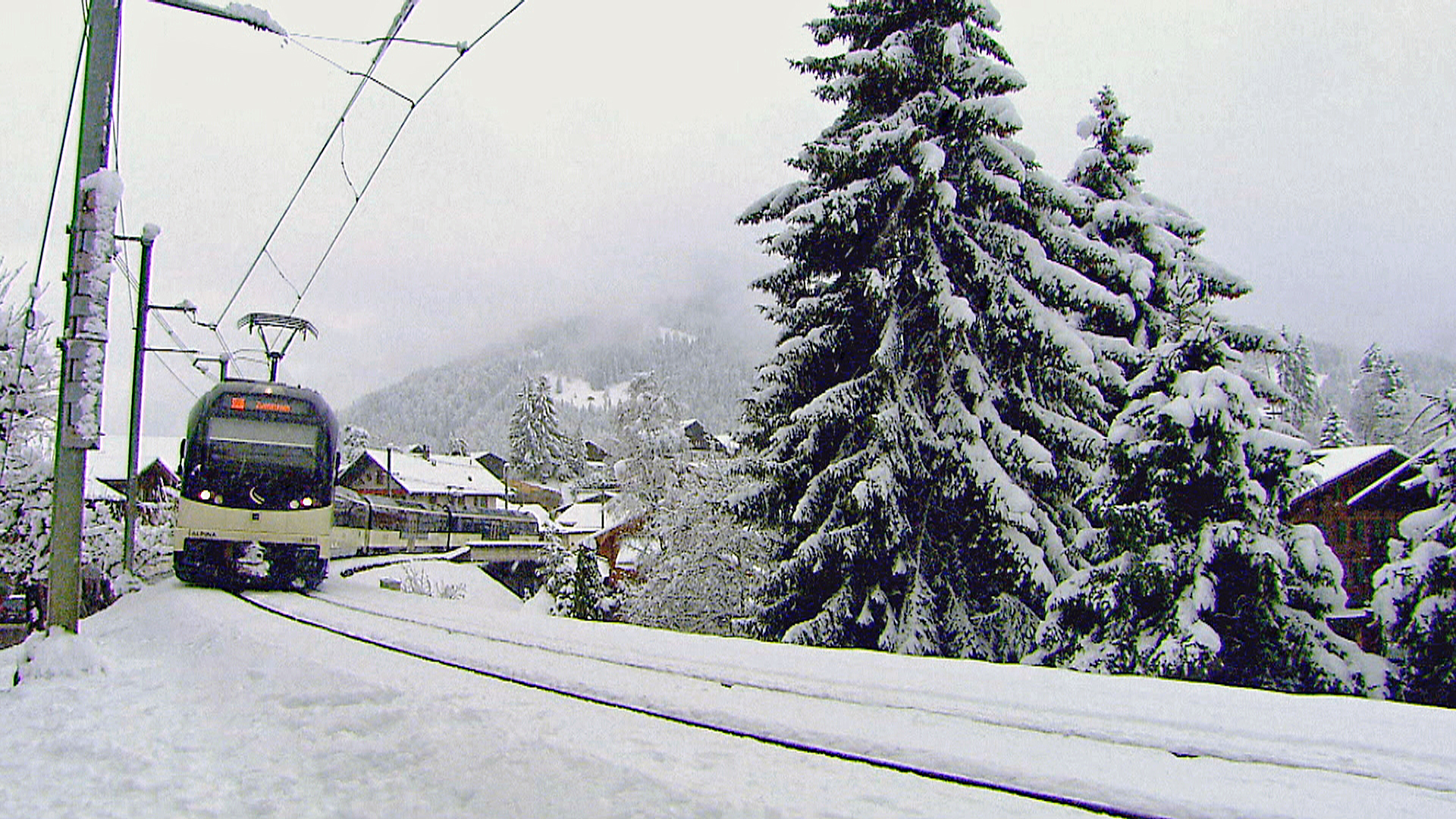 Golden Pass Train at Gstaad